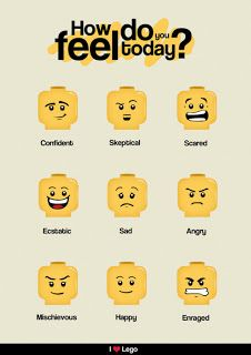 Lego minifig expressions