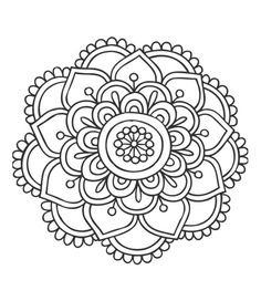 Simple Mandala Flower My Shop Pinterest Simple Mandala