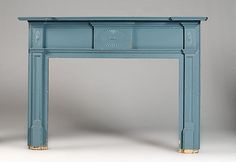Federal-style Mantel in Blue Paint, - Cowan's Auctions