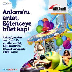 Ankara'yı neden sevdiğini en fazla 140 karakterle anlatan her gün 1 kişi, 10 adet Lunapark bileti kazanıyor!   Yarışmaya katılmak için: http://on.fb.me/1ux6EuS  Unutma son katılım 2 Ekim 2014!