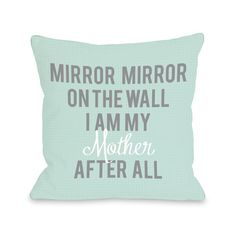 'I Am My Mother' Throw Pillow (18 x 18 Pillow), Multi (Polyester, Quotes & Sayings)