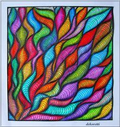 Just drawing and painting again … by dekoretti Cool Art Drawings, Drawing Sketches, Dibujos Zentangle Art, Art Doodle, Zentangle Patterns, Zentangles, Sharpie Art, Zen Art, Marker Art