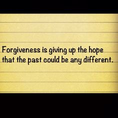 So true..the past can never be changed. So let it go and forgive those who have hurt you for yourself not for them.