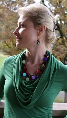Wearing Spectrum necklace with 2013 color of the season! Via Carolyn Popp Premier Designs Jewelry on Facebook.