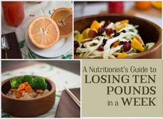 A day-by-day plan to help you lose 10 pounds in one week, this diet includes recipes and detailed meal descriptions for seven days. Lose weight, be healthy, and don't starve yourself!