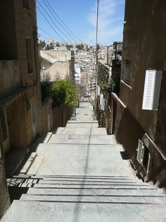 Amman, Jordan public stairs, via Flickr.