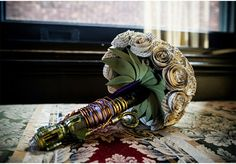 Oh, this? This is just a wedding bouquet made from a sonic screwdriver and pages from a Sherlock Holmes story. No biggie.