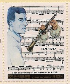 Beautiful stamp for Maurice Ravel