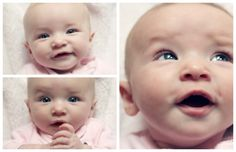 Claire Collage II #baby #girl #pink #expressions #blue #eyes