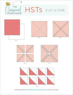 Quilting For Beginners, Quilting Tutorials, Quilting Projects, Quilting Designs, Sewing Projects, Triangle Quilt Tutorials, Patch Quilt, Quilt Block Patterns, Quilt Blocks