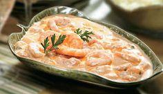 Creamy shrimp ceviche