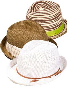 Cool summer hats.