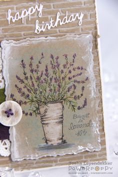 Lavender clear polymer stamp set illustrated by Marcella Hawley Lavender Stamp, Asian Cards, Poppy Cards, Art Impressions, Watercolor Cards, Happy Birthday Cards, Flower Cards, Clear Stamps, Scrapbook Paper