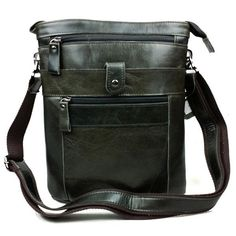 Mans Genuine Leather Bags Cowhide Leather Briefcase Messengers Bags Sling Bags