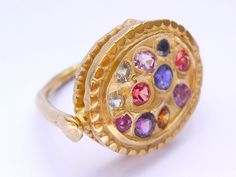 my new purchase. Polly Wales multi sapphire ring.