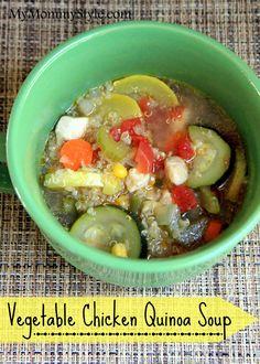 Vegetable Chicken Quinoa Soup