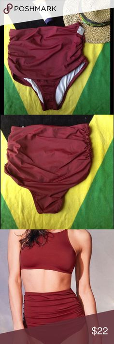 NWT Ruched Highwaist Bikini Bottoms NWT Ruched Highwaist Bikini Bottoms; Perfect for mixing and matching with a bikini top of your choice! Out From Under Swim Bikinis