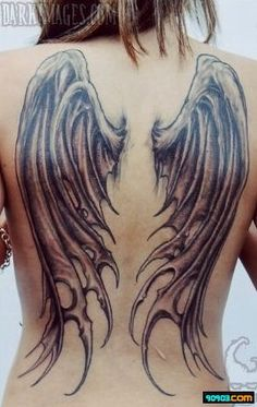 #Angel wing #tattoo on the back