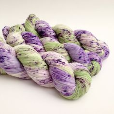 SPRING SONG - Hand Dyed Yarn - Sparkle Sock Yarn Fingering - Ready to Ship - Vivid Yarn Studio