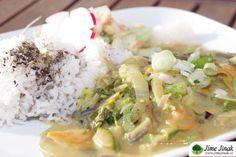 Zelenina ve sladké curry omáčce