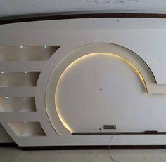 Dwell Of Decor: 30 Popular Custom Gypsum Board TV Units That People Choose Lcd Wall Design, House Ceiling Design, Ceiling Design Living Room, Tv Stand Modern Design, Tv Stand Designs, Wall Unit Designs, Living Room Tv Unit Designs, Deco Tv, Modern Tv Wall Units