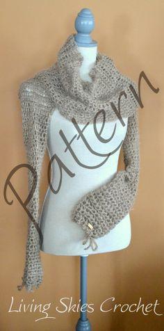 Gwendolyn Cowl crochet pattern designed by LivingSkiesCrochet on Etsy #crochet #pattern All proceeds from pattern sales at Living Skies Crochet go toward the Healing Blankets fund: http://www.livingskiescrochet.com/healing-blankets-fund.html