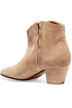 Isabel Marant - étoile Dicker Suede Ankle Boots - Beige - FR