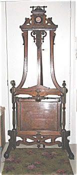Victorian Renaissance Revival Walnut, Ebonized Easel  c. 1865