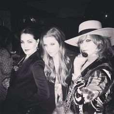 Priscilla Presley, Lisa Marie and the lovely Linda Ramone. There's too much style in this photo.