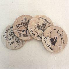 Grès Coaster Set of 4 - thème Pub Harry Potter