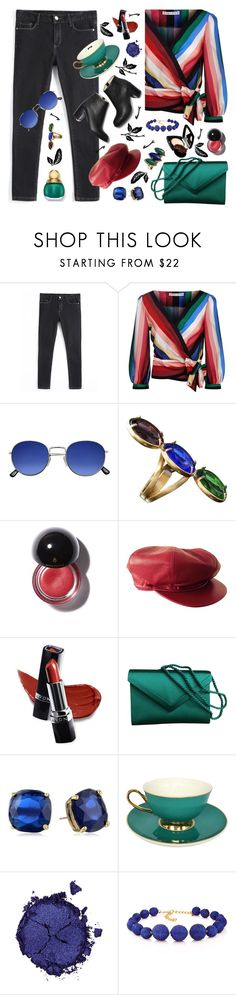 """bright and beautiful"" by countrycousin ❤ liked on Polyvore featuring Alice + Olivia, Couture Colour, Patrizia Daliana, Hermès, Avon, Kate Spade, Pat McGrath, Kenneth Jay Lane, Tory Burch and Chanel"