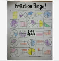 Fractions Bingo! Game. Print the gamboards and grab some dice! Fun ...