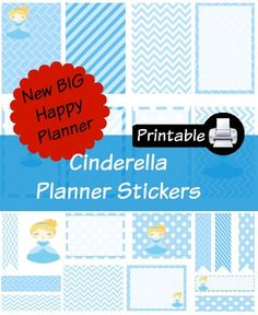 New BIG Happy Planner Cinderella PDF PRINTABLE Planner Stickers Erin Condren Planner Filofax Plum Paper Decorating Kit Disney by WhimsicalWende on Etsy