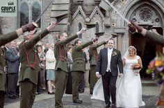 Irish Military Weddings Photographed by Couple Photography.