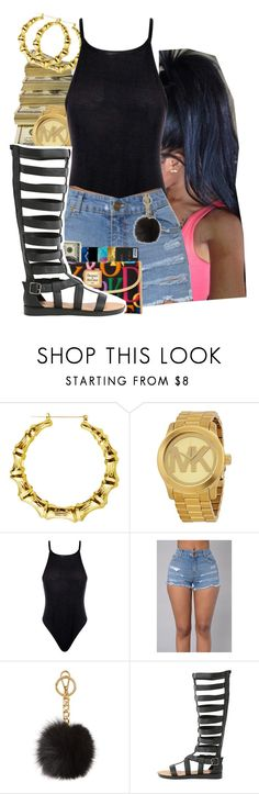 """I Got A F*cked Attitude Very Rude"" by dajvuuloaf ❤ liked on Polyvore featuring Michael Kors, Boohoo and Qupid"