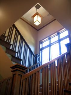 arts and crafts stairs, Tiny Oak Park Bungalow, 070608 | Flickr - Photo Sharing!