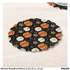 Autumn Pumpkins Pattern Paper Coaster Cloth Napkins, Paper Napkins, Swag Ideas, Fall Pumpkins, Thanksgiving Decorations, Pattern Paper, Brand You, Keep It Cleaner, Coasters