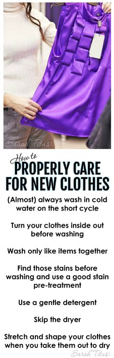 You're in the store and you see the PERFECT top. You want to buy it, but you know you'll never be able to launder it correctly. Have no fear....here's your guide on how to properly care for new clothes.