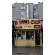 One of the  last coffee shops from when a coffee shop was a coffee shop. The food's good, too. 14th St between Av A and 1st Av, East Village, NYC  #diner #coffeeshop #nyc  #newyorkcity #ilovenewyork #eastvillage