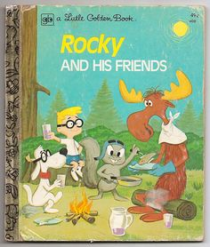 Fractured Fairy Tales - Loved to watch this little cartoon brought to you by the Rocky and Bullwinkle Show. Little Golden Books - Rocky & Hi. Old Children's Books, Vintage Children's Books, My Books, Story Books, Funny Cartoon Pictures, Cartoon Photo, Bugs Bunny Cartoons, Baby Boomer, Little Golden Books