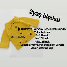 Hayırlı akşamlar 💞💞💞💞💞💞💞 Kapşonun sayıları umarım an… Baby Cardigan Knitting Pattern, Knitted Baby Cardigan, Knit Baby Sweaters, Baby Knitting Patterns, Knitting Designs, Hand Knitting, Crochet Baby Clothes, Crochet For Kids, Diy Clothes