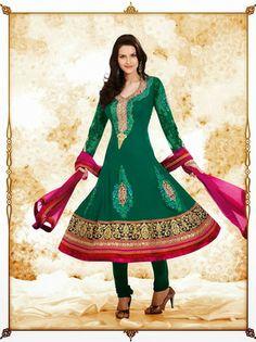 I found this beautiful design on Mirraw.com $121 Product ID :100313 Type :Anarkali salwar kameez Designer :ZAHARA