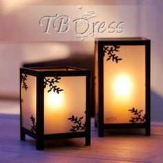 Fashion Japanese Style Pastoral Square Wedding Candle Favors