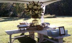 Buffet under meadow tent - Glen Ella Springs Inn