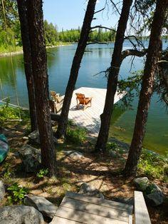 Ma cabane au Canada <3 Le ponton de notre chalet / Canada cabin on the lake