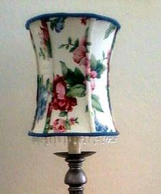 Olde Country Cottage: NO Sew Lamp shade recover tutorial Square Lamp Shades, Small Lamp Shades, Hanging Lamp Shade, Modern Lamp Shades, Covering Lamp Shades, Light Shades, West Elm, Recover Lamp Shades, Pottery Barn Lamp Shades