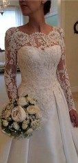 Beautiful lace wedding dresses ideas 174