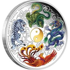 Chinese Ancient Mythical Creatures 2014 5oz Silver Proof Coloured Coin | The Perth Mint