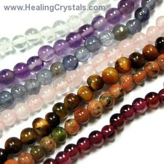 7 Chakra 3mm Bead Necklace Assortment 2 http://www.healingcrystals.com/7_Chakra_3mm_Bead_Necklace_Assortment_2.html