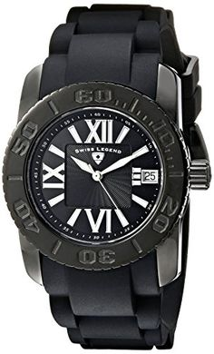 Women's Wrist Watches - Swiss Legend Womens SL10114BB01 Commander Black Polyurethane and Stainless Steel Watch ** Find out more about the great product at the image link. (This is an Amazon affiliate link)
